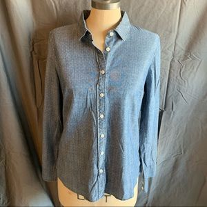 🆕 J. Crew Factory Printed Chambray Button-Down
